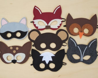 Child Size Woodland Masks Pack