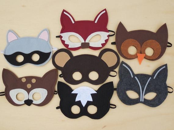 Child Size Woodland Masks Pack