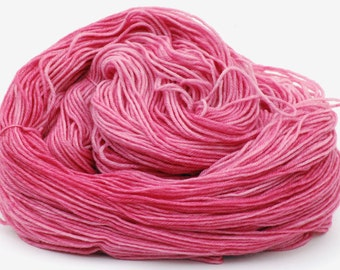 Hand dyed MCN sock yarn Merino Cashmere Nylon Sock Yarn - Bleeding Heart
