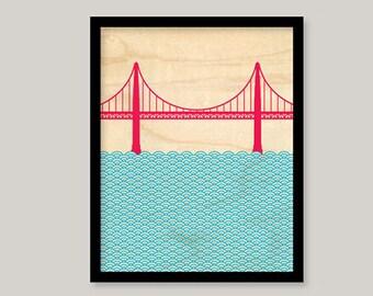 Otsutree Golden Gate Bridge (Unframed)
