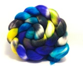 SALE - Tropical Storm - Superwash Merino top roving fiber for spinning