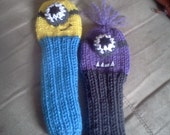 Hand Knit MINION Inspired GOLF Club Head Cover - CUSTOM made to order