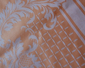 Vintage French Damask Tablecloth
