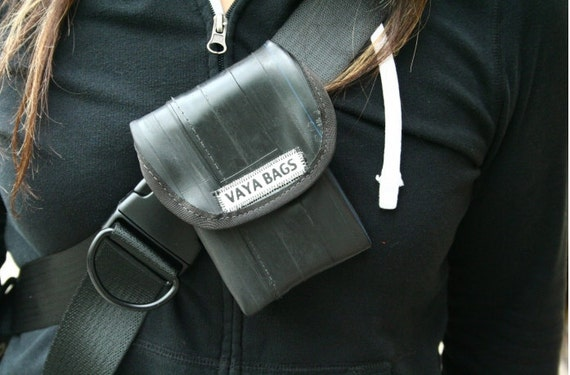 Recycled Bike Tube Cell Phone Pouch