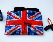 Union Jack Cosmetic Bags | printed pouch | Flag of England | British flag