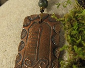 Hazel -Celtic Tree Astrology Ogham Copper Pendant, Ogham Jewelry, Irish Celtic Jewelry, Necklace