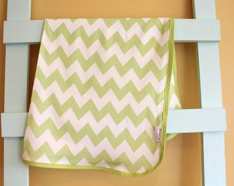 Citron Organic Swaddle Blanket Chevron Geometric by PETUNIAS newborn hipster modern baby shower gift photo prop wrap cotton girl boy nu