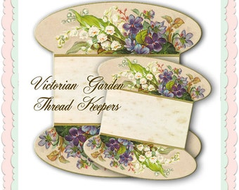 Victorian Garden /Lace or thread Keepers