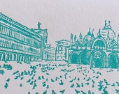Venice - eight letterpress note cards