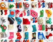 reserved for lauren. modern felt Christmas stockings - February delivery
