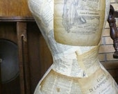 Lucia paper mache dress form