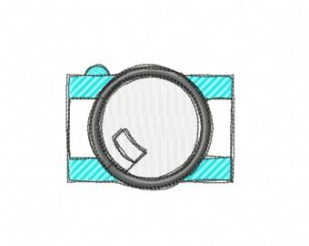 Camera embroidery design / machine embroidery / camera