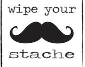 Wipe your stache Mustache towelettes