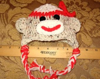 Miniature Girl Sock Monkey Hat