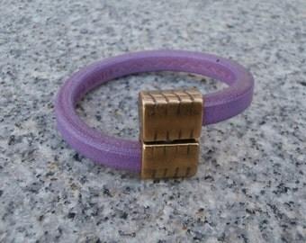 Lavender Leather Bracelet