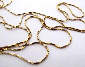 Vintage Brass Sparkly Snake Chain (6 feet) (CP207)