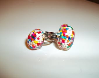 Small and Medium Jimmy Sprinkle Rings