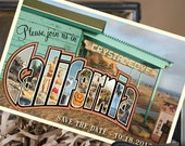 Vintage Large Letter Postcard Save the Date (Crystal Cove, California) - Design Fee
