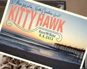 Vintage Travel Postcard Save the Date (Kitty Hawk, NC) - Design Fee