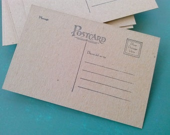 "Postcard blanks - set of 20 - Chipboard - 4"" x 6"""