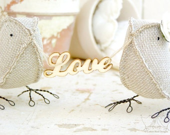 All You Need is Love Wedding Cake Topper Anniversary Gift Woodland Country Chic Rustic Outdoor Barn Wedding