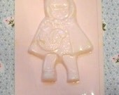 Vintage Little Red Riding Hood Girl Pink Plastic Chocolate Mold