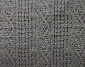 REMNANT - Japanese Fabric With Reality - faux knitted wool - grey