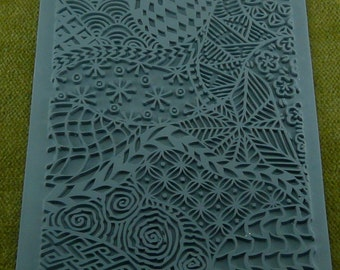 CLOODLE  Lisa Pavelka Rubber Stamp Zentangle type Design  for Embossing / Texture / Inking