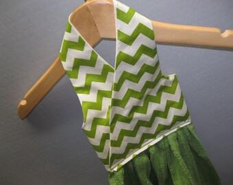 Hanging Dish Towel Chevron Fabric