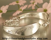 Silver Spoon Bracelet SPRINGTIME Jewelry Vintage, Silverware, Gift, Anniversary, Wedding, Birthday