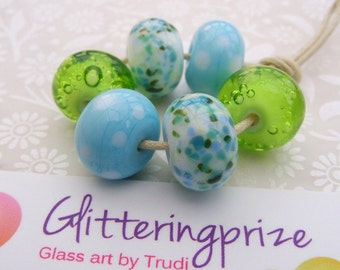 Lampwork Glass Beads Spring In The Welland Valley