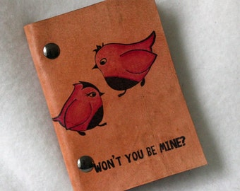 Mini Notebook - Won't You Be Mine? - Valentine's Day Journal