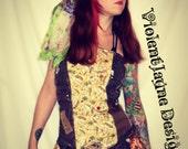 PIRATE Halloween costume ,Corset style top , Pirate / Mermaid/ Shipwrecked/ Steam Punk / Gypsy Costume Halloween
