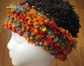 Colorful Boucle Knit Hat Adult Large Size