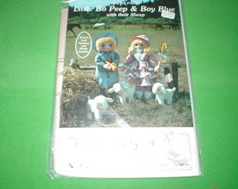 Little Bo Peep and Boy Blue With their Sheep to sew patterns