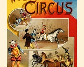 Visit To The Circus - Story Book Cover - Frameable Wall Art