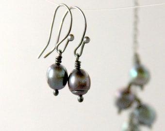 Peacock Drop Pearl Earrings