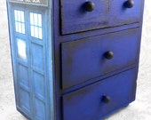 Custom TARDIS Inspired Stash Jewelry Box