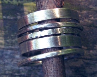 Sterling silver multi width stacking rings