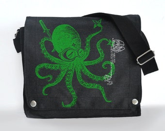 Ninja Octopus messenger bag