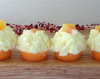 6 CANDY CORN Mini Muffin Tarts Halloween Tart Melts Black Mountain Candles