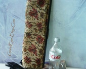Vintage Fab Tapestry Clutch Purse / LONGEST in the WORLD Bag / 1940s 50s Handbag  / 18 inches Fabric Covered