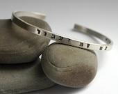 Hebrew This Too Shall Pass Bracelet Stamped Sterling Silver Cuff Gam Zeh Ya'avor Medium