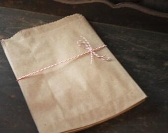 50 Kraft Bags #7 Bags -- 7-1/2 X 10-1/2 -- Flat Bags -- Merchandise Bags