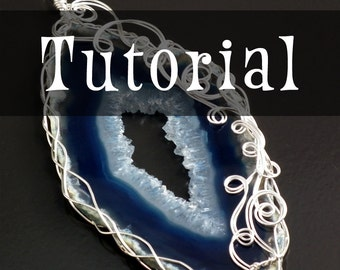 TUTORIAL: Advanced Wrap With a 4-Strand Braid (Wire-Wrapped Pendant Instructions)