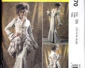 McCalls 6770 Steampunk Victorian Jacket Bustle Capelet Dress Sewing Pattern Sizes 4-10    UNCUT