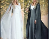 Simplicity 1551  Thrones Medieval Fairy Princess Queen LOTR Medieval Renaissance Hobbit Elf Sewing Pattern Sz. 8-14 New UNCUT