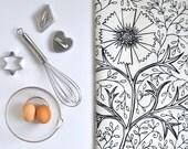 Ink Filigree - Linen Tea Towel