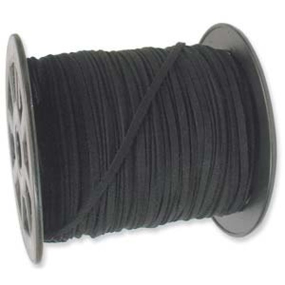 3 x 1mm Ultra Microfiber Faux Leather Suede Necklace Cord BLACK 10 Feet 42787