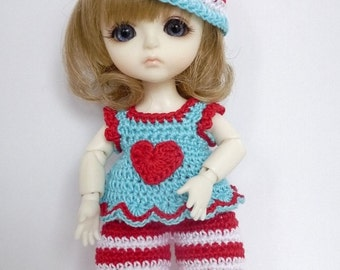 PukiFee/Lati Yellow 4 Pc Outfit Set Valentine Sweetie